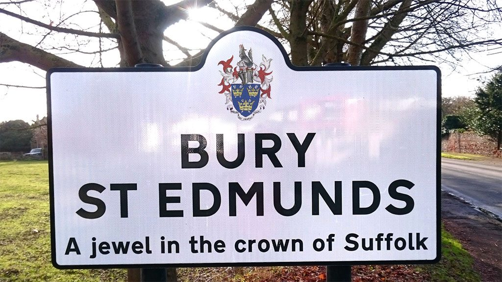 Bury St Edmunds Town Sign