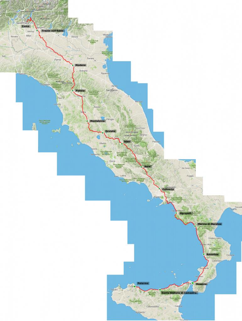 Ciclitalia Route